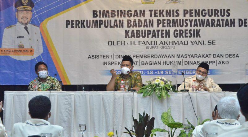 Bupati Gresik Ingin BPD dan Kepala Desa Saling Bersinergi dan Benahi Basis Data di Desa